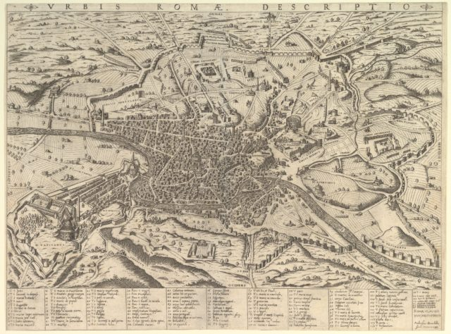 Speculum Romanae Magnificentiae: View of Modern Rome from the West