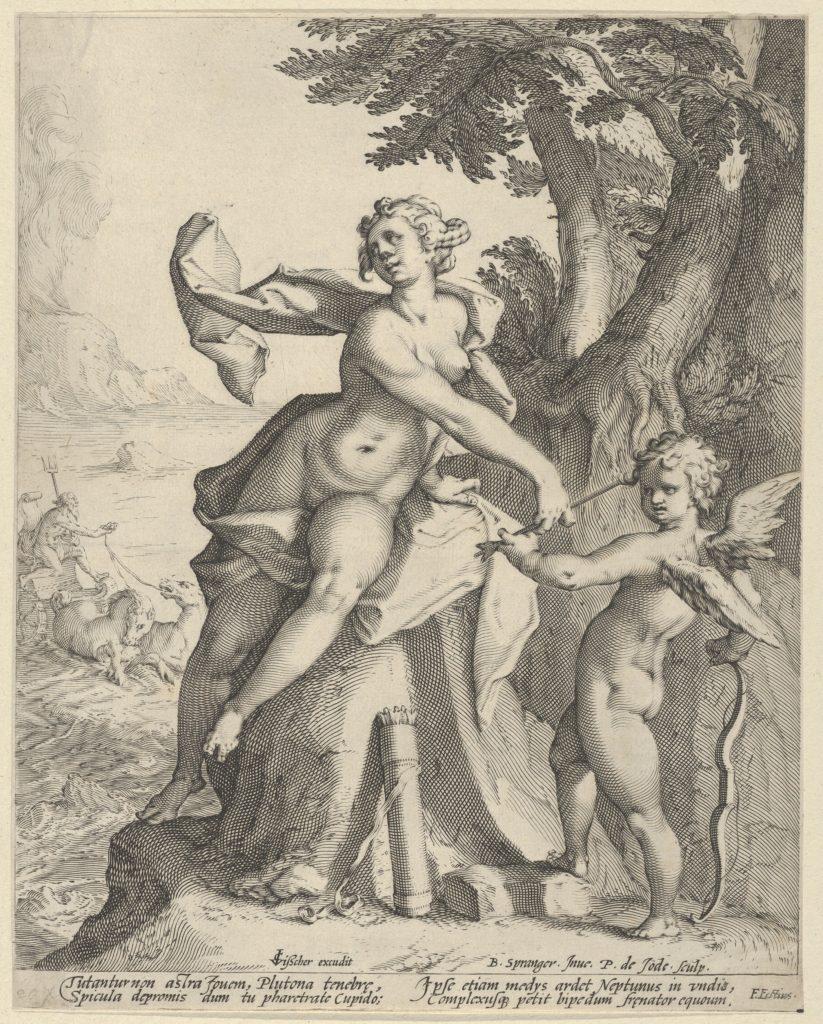 Venus Commanding Cupid to Shoot his Arrow at Pluto
