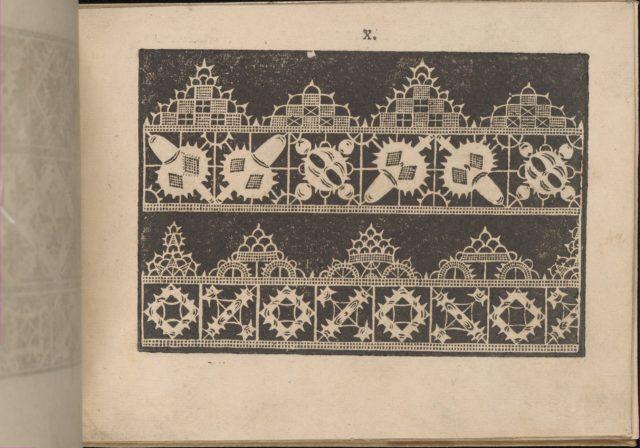 Prima Parte de' Fiori, e Disegni di varie sorti di Ricami Moderni, page 10 (recto)