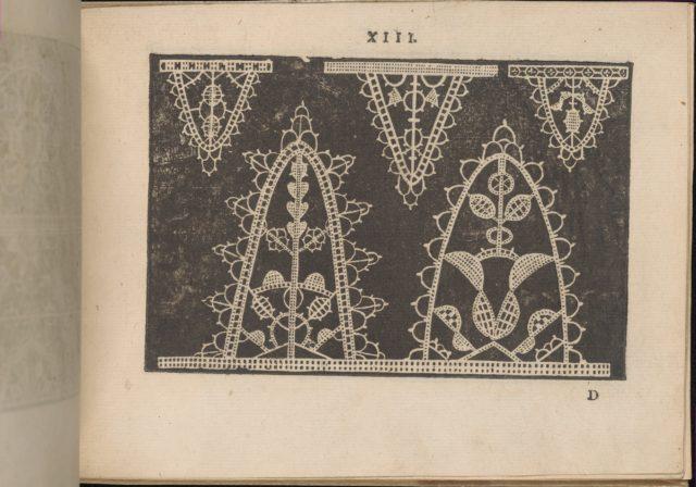 Prima Parte de' Fiori, e Disegni di varie sorti di Ricami Moderni, page 13 (recto)