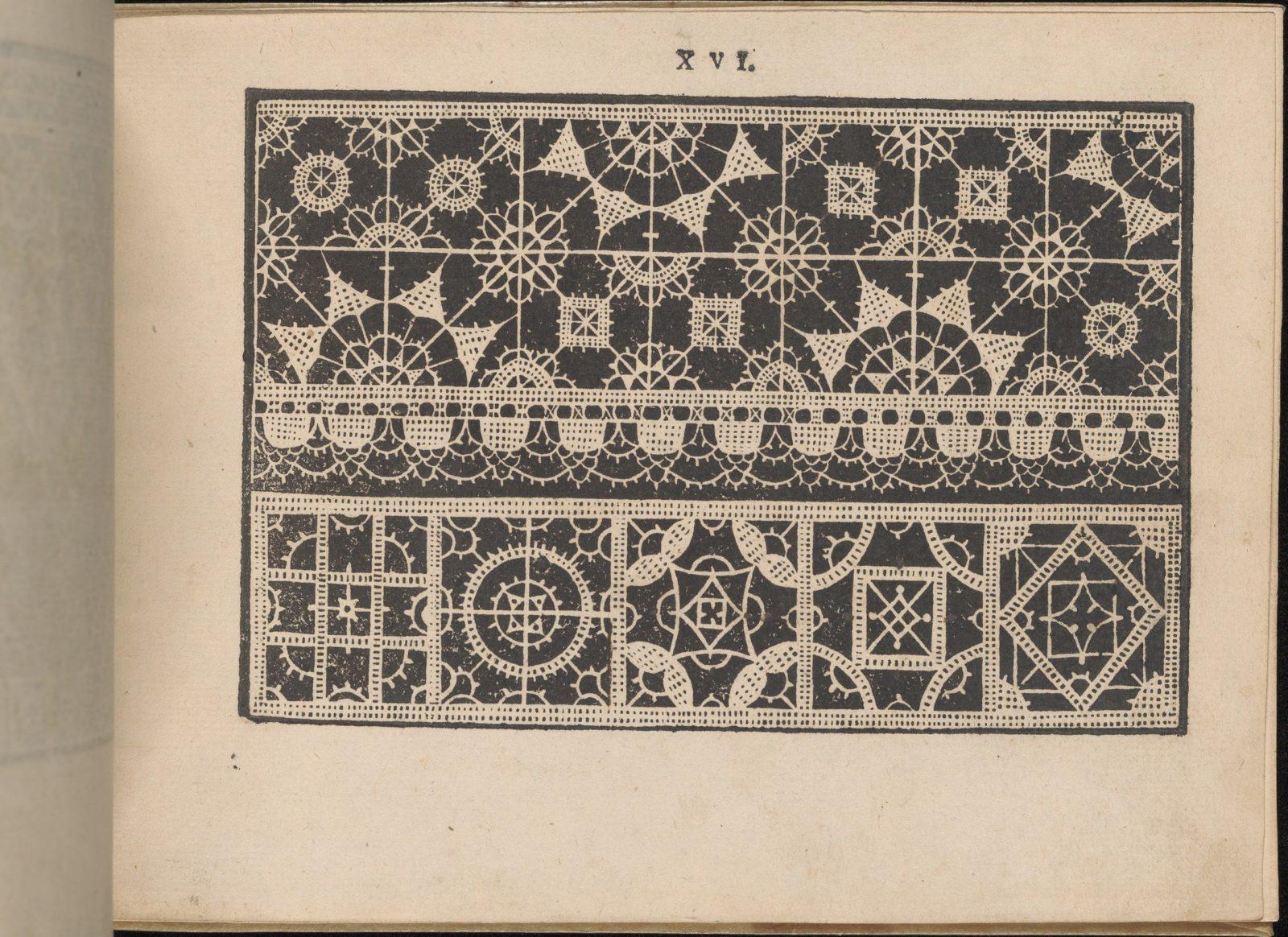 Prima Parte de' Fiori, e Disegni di varie sorti di Ricami Moderni, page 16 (recto)