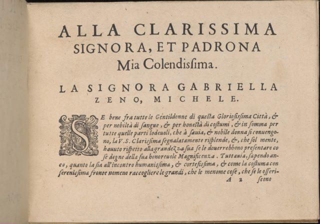 Prima Parte de' Fiori, e Disegni di varie sorti di Ricami Moderni, page 2 (recto)