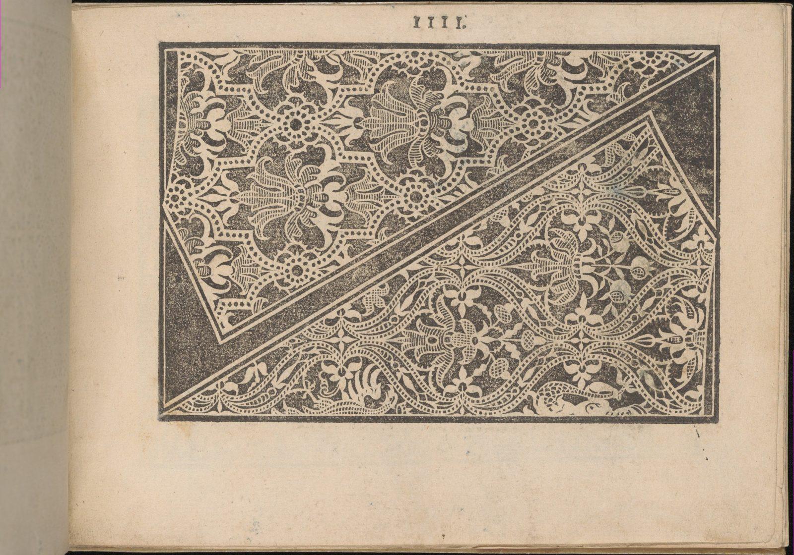 Prima Parte de' Fiori, e Disegni di varie sorti di Ricami Moderni, page 4 (recto)