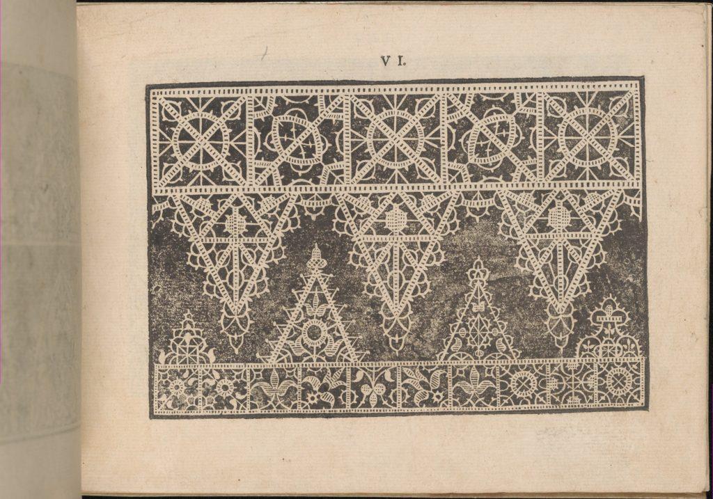 Prima Parte de' Fiori, e Disegni di varie sorti di Ricami Moderni, page 6 (recto)