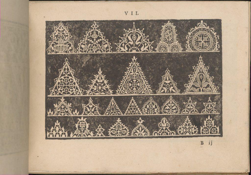 Prima Parte de' Fiori, e Disegni di varie sorti di Ricami Moderni, page 7 (recto)