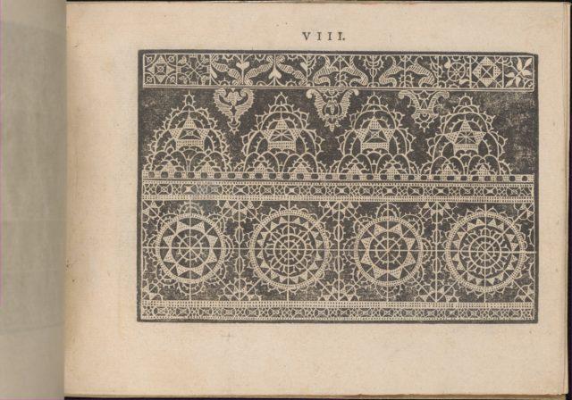 Prima Parte de' Fiori, e Disegni di varie sorti di Ricami Moderni, page 8 (recto)