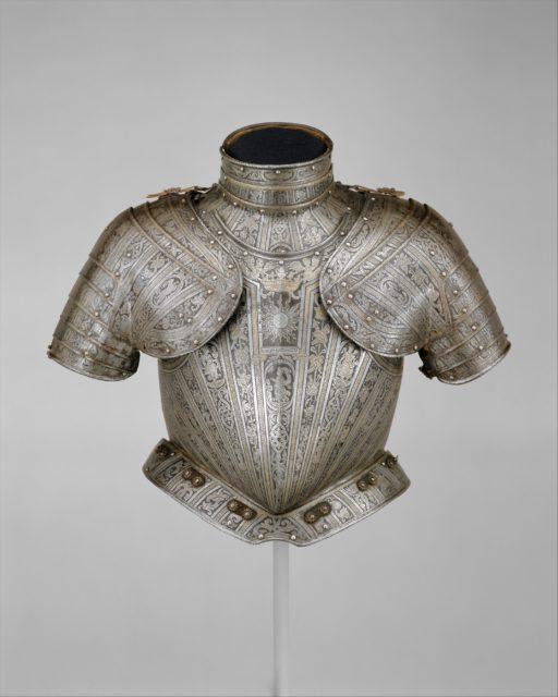 Portions of an Armor for  Vincenzo Luigi di Capua (d. 1627)