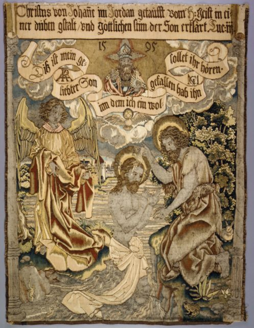 The Baptism of Christ from a set of The Passion