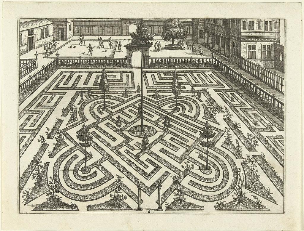 Het labyrinth wordt