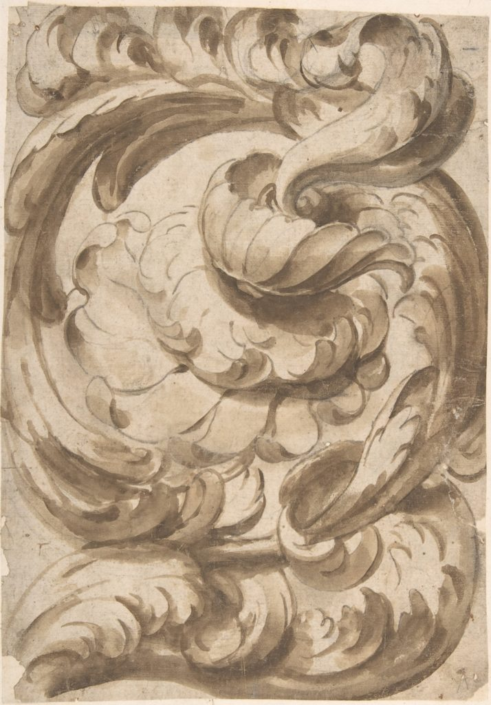 Acanthus Scroll with Rosette