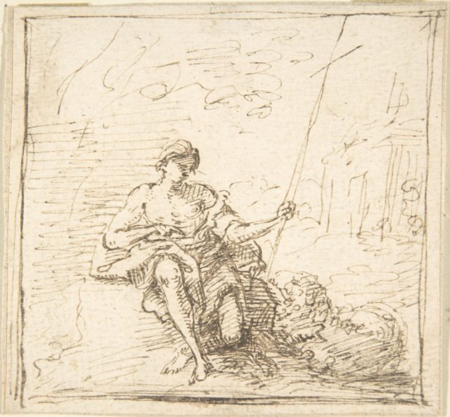 Adolescent John the Baptist with a Lamb in the Wilderness