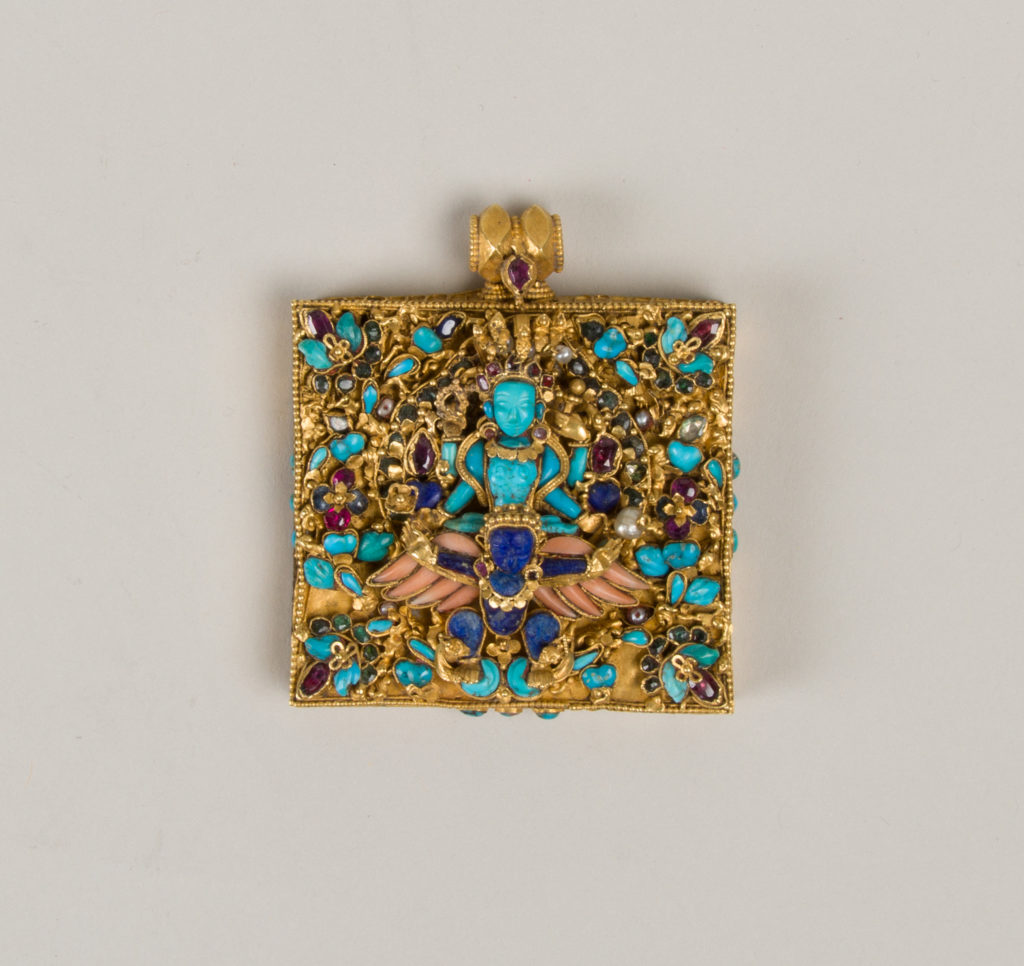 Amulet case with Vishnu Riding Garuda