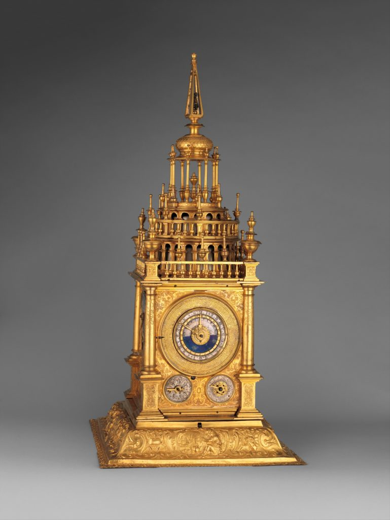 Astronomical table clock