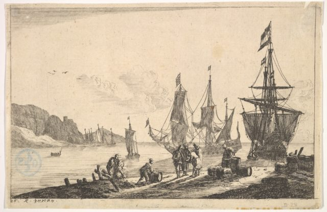 Bay with Sailing Vessels