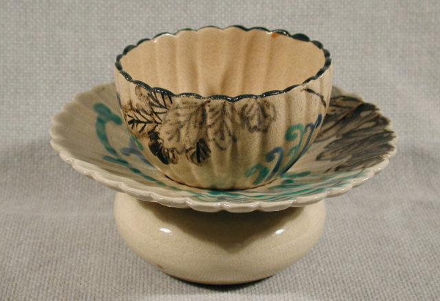 Blossom-Shaped Cup and Matching Cup Stand