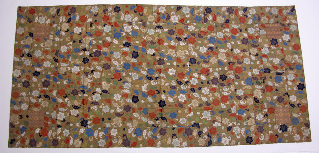 Buddhist Vestment (Kesa) with Clematis Flowers, Leaves, and Vines