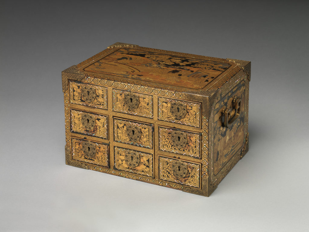 Cabinet with Drawers in Nanban (Southern Barbarian) Style