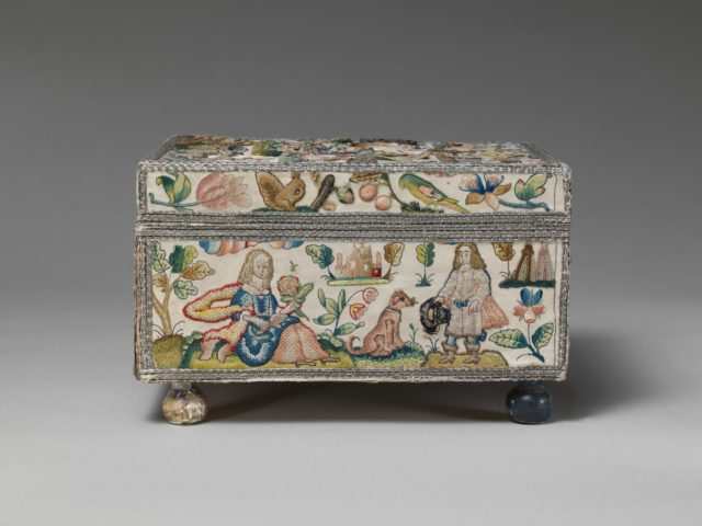 Cabinet with personifications of the Five Senses