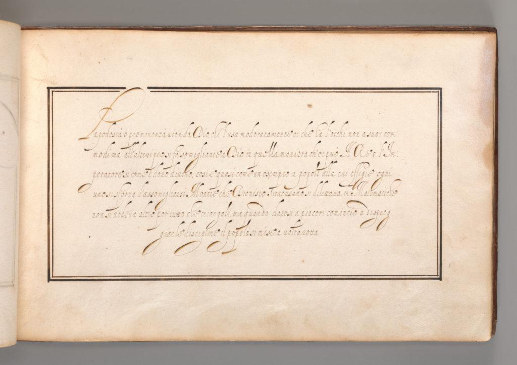 Calligraphic Excersize in Italian (Cursive Script)