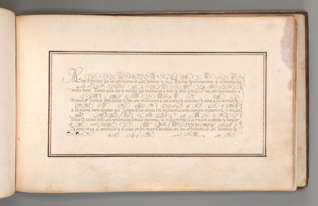 Calligraphic Excersize in Spanish
