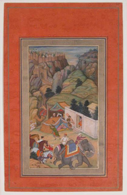 """""""Camp Being Prepared in the Hills"""", Folio from the Davis Album"""
