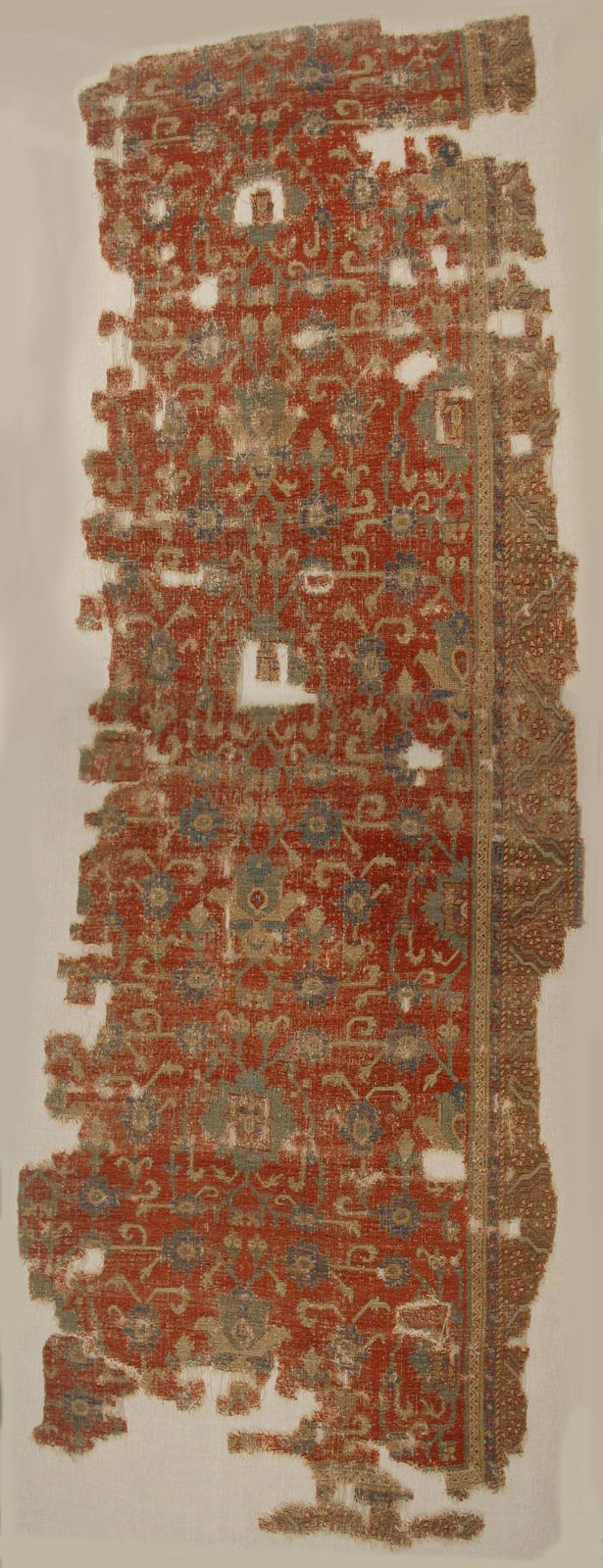 Carpet with Chintimani Border and Lotus Design
