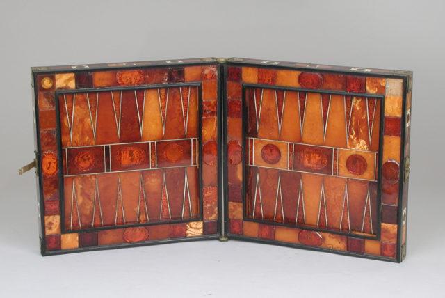 Chess and backgammon board