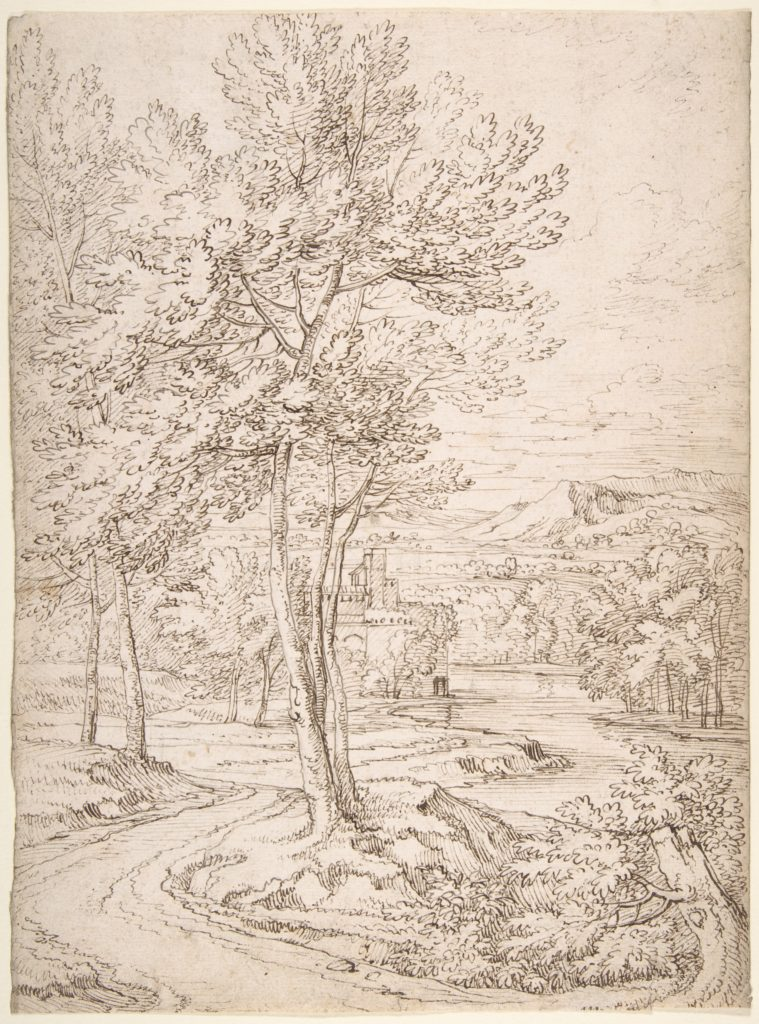 Classical Landscape with a Building and a River