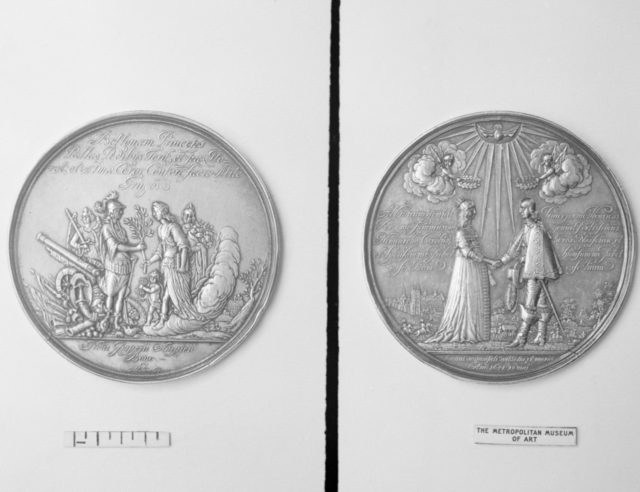 Commemorating Marriage at Whitehall of William II, Prince of Orange-Nassau and Mary, Princess Royal of England, 1641