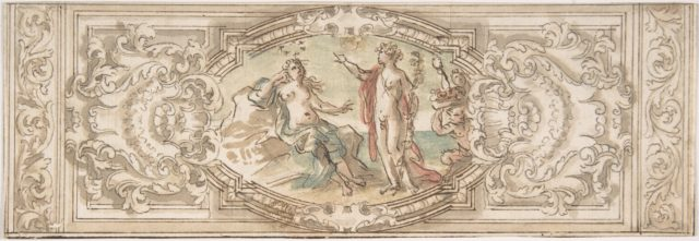 Design for a Panel with a Depiction of Bacchus and Ariadne