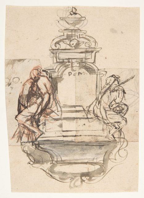 Design for a sepulchral monument with two figures