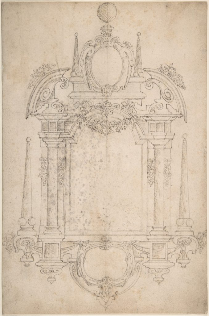 Design for a Tomb or Wall Monument
