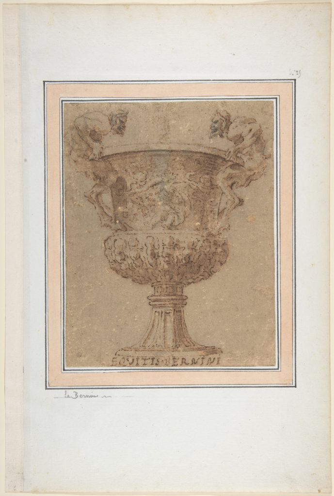 Design for an Urn with Satyrs for Handles.