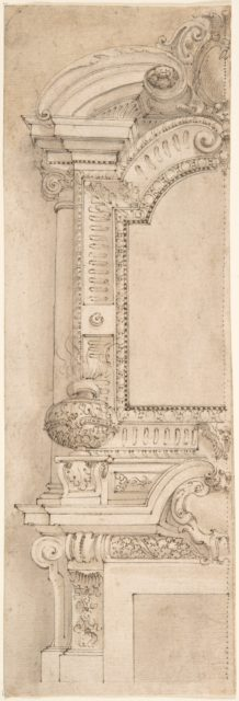 Design for the left half of a chimneypiece