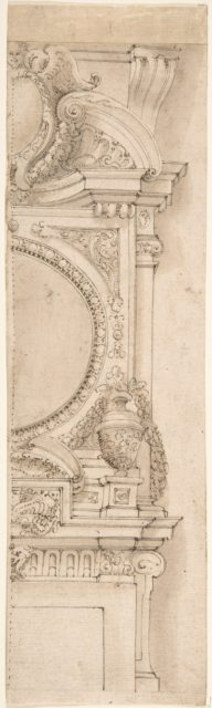 Design for the right half of a chimneypiece