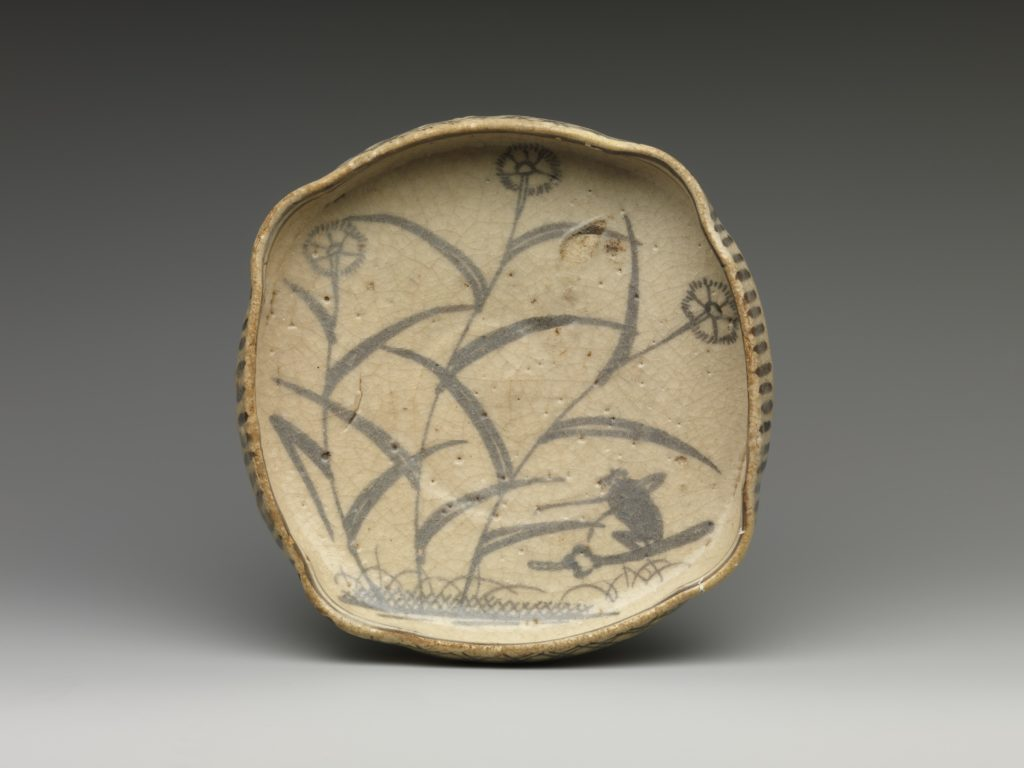 Dish with Bird-and-Flower Design