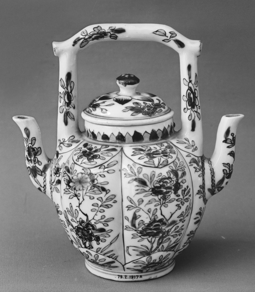 Double-Sided Teapot with Tree Peonies