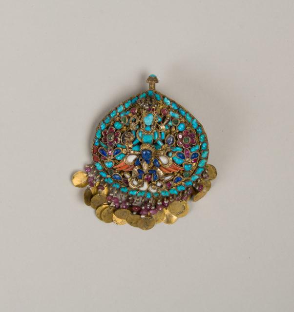 Earring for a Deity Showing Vishnu Riding Garuda