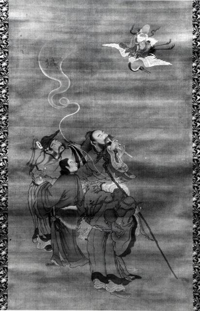 Eight Daoist Immortals Welcoming Jurōjin