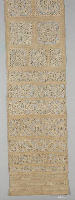 Embroidered whitework sampler