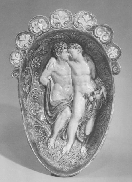 Gondola cup (Coupe gondole) with Bacchus and Ceres