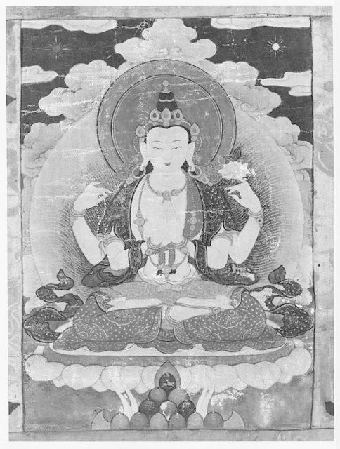 Hanging Scroll of Lama