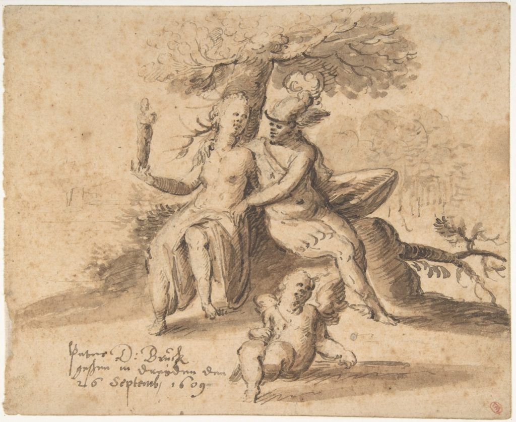Hermes, Venus, and Cupid in a Landscape