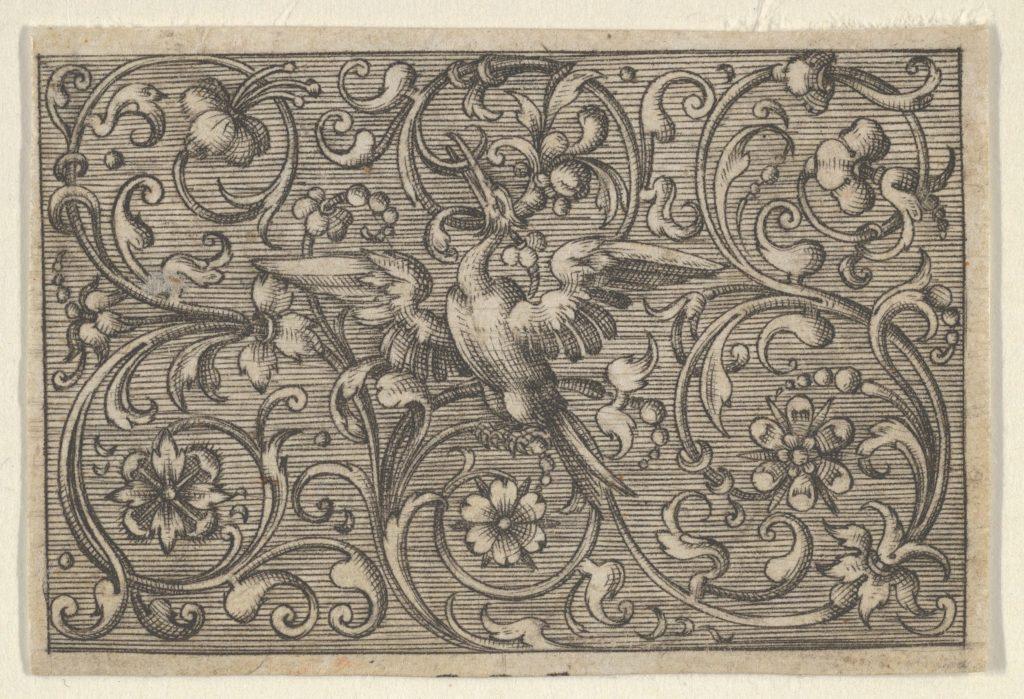 Horizontal Panel with a Bird, from Varii Generis Opera Aurifabris Necessaria