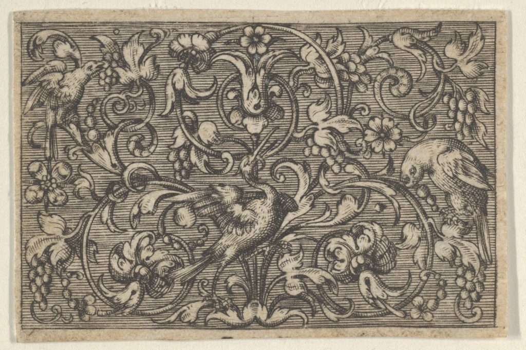 Horizontal Panel with Three Birds, from Varii Generis Opera Aurifabris Necessaria