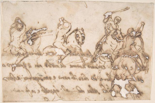 Horsemen Fighting