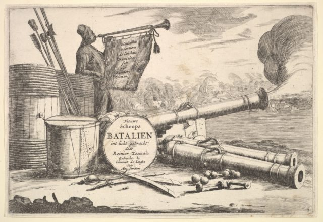 Instruments of Naval Combat, A Sailor Sounding the Trumpet