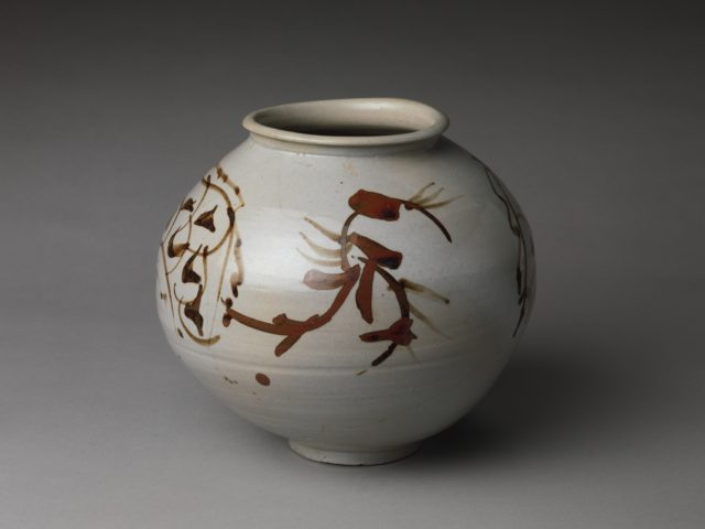 Jar decorated with dragons