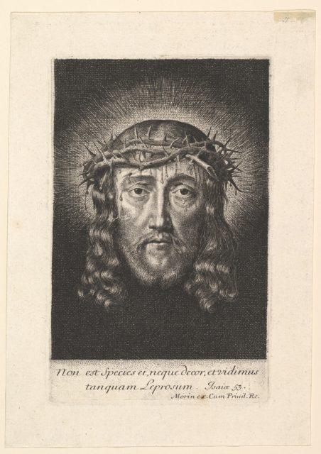 La sainte Face couronnee d'epines, (petit format)