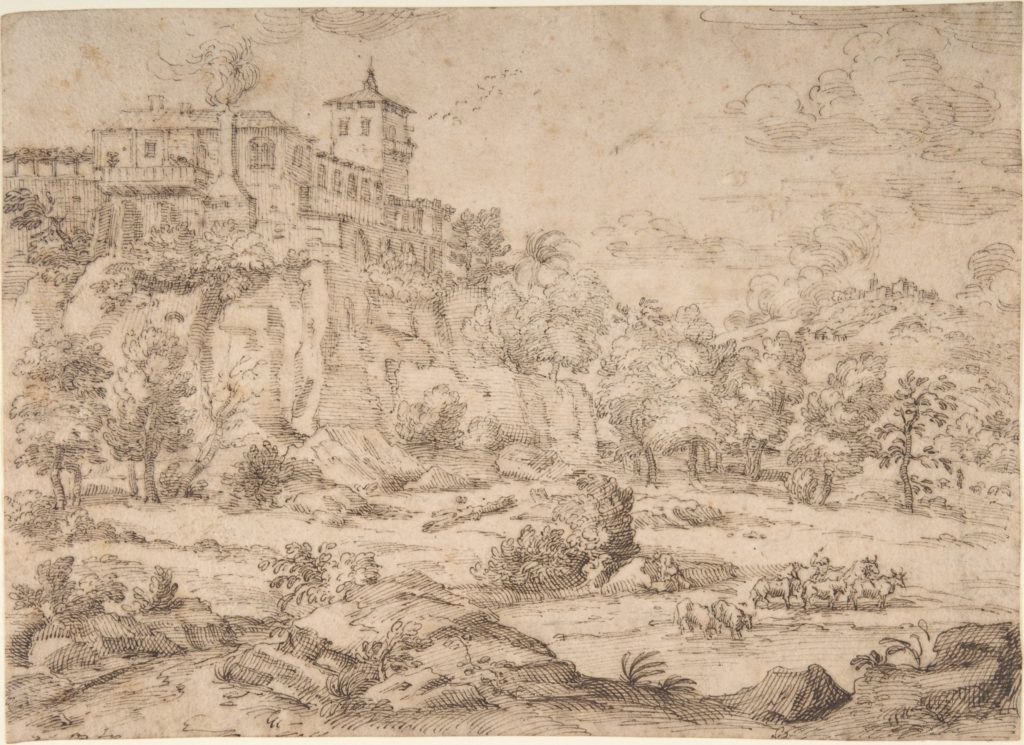 Landscape with Hilltop Villa